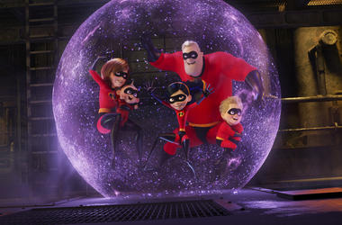 "This image released by Disney Pixar shows a scene from ""Incredibles 2,"" in theaters on June 15. (Disney/Pixar via AP)"