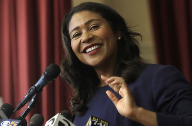 Incoming mayor London Breed smiles while speaking at Rosa Parks Elementary School in San Francisco, Thursday, June 14, 2018. It is now the job of Breed, the first black woman elected mayor of the city, to unite a wealthy but frustrated San Francisco, wher
