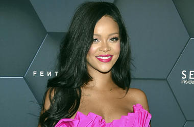 In this Friday, Sept. 14, 2018 file photo, singer Rihanna arrives at the Fenty Beauty by Rihanna one year anniversary party at Sephora in New York. Los Angeles police have arrested four people they say targeted celebrity homes for burglary, including thos