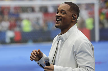 In this July 15, 2018, file photo, singer and actor Will Smith performs during the closing ceremony prior to the final match between France and Croatia at the 2018 soccer World Cup in the Luzhniki Stadium in Moscow, Russia. The star on Wednesday, Oct. 10,