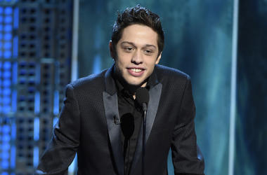"In this March 14, 2015, file photo, Pete Davidson speaks at a Comedy Central Roast at Sony Pictures Studios in Culver City, Calif. Texas Republican congressional candidate Dan Crenshaw has chided ""Saturday Night Live"" comic Davidson for poking fun of the"