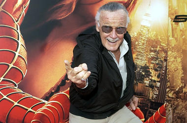 "In this June 22, 2004, file photo, Spiderman creator and ""Spider-Man 2"" executive producer Stan Lee poses for photographers at the premiere of ""Spider-Man 2"" in Los Angeles. Comic book genius Lee, the architect of the contemporary comic book, has died. He"