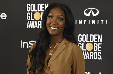 Isan Elba, daughter of Idris Elba, the 2019 Golden Globe Ambassador, appears at a press conference at The Four Seasons Los Angeles on Wednesday, Nov. 14, 2018. (Photo by Jordan Strauss/Invision/AP)
