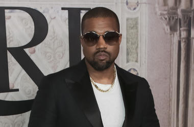 In this Sept. 7, 2018, file photo, Kanye West attends the Ralph Lauren 50th Anniversary Event held at Bethesda Terrace in Central Park during New York Fashion Week in New York. Kanye West surprised fans at a tribute honoring the late rapper XXXTentacion d