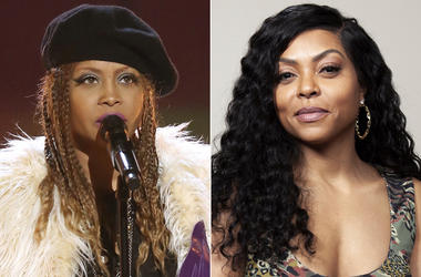 This combination photo shows Erykah Badu performing at a tribute to Prince at the BET Awards in Los Angeles on June 26, 2016, left, and Taraji P. Henson posing for a portrait in Beverly Hills, Calif., on Nov. 3, 2018. Badu and Henson star together in the
