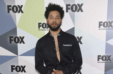 """In this May 14, 2018 file photo, Jussie Smollett, a cast member in the TV series """"Empire,"""" attends the Fox Networks Group 2018 programming presentation afterparty in New York. Chicago police have opened a hate crime investigation after a man the departmen"""