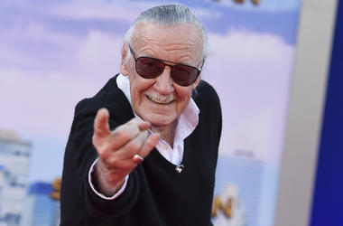 "In this June 28, 2017 file photo, Stan Lee arrives at the Los Angeles premiere of ""Spider-Man: Homecoming"" at the TCL Chinese Theatre. For comics lovers, Lee was as much a superhero as the characters he helped create. Those fans, along with Lee's friends"