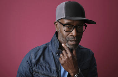 """In this Jan. 31, 2019, file photo Don Cheadle, a cast member in the Showtime series """"Black Monday,"""" poses for a portrait during the 2019 Winter Television Critics Association Press Tour in Pasadena, Calif. On Saturday, Feb. 16, Cheadle delivered some poli"""