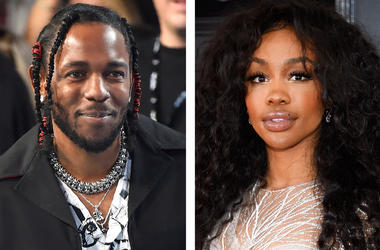 """This combination photo shows musician Kendrick Lamar, left, and Solana Rowe, better known as SZA, who, along with Mark Spears and Anthony Tiffith, were nominated for an Oscar for best original song for """"All the Stars,"""" from the film """"Black Panther."""" Alexa"""