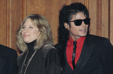 In this Dec. 14, 1986, file photo, singers Barbra Streisand and Michael Jackson attend the Scopus Awards of the American Friends of the Hebrew University ceremony in Los Angeles.