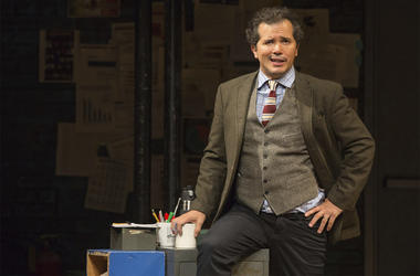 "This image released by Polk & Co. shows John Leguizamo during a performance of his one-man show ""Latin History for Morons,"" which will kick off a 12-state U.S. tour with a two-night stand at the Apollo Theater in New York starting June 20. (Matthew Murphy"