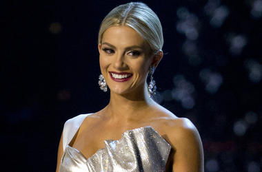 In this Dec. 13, 2018, file photo, Miss USA Sarah Rose Summers participates in the swimsuit and evening gown stage of the 67th Miss Universe competition in Bangkok, Thailand. (AP Photo/Gemunu Amarasinghe, File)