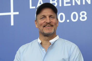 """In this Sept. 4, 2017, file photo, actor Woody Harrelson poses for photographers at the photo call for the film """"Three Billboards Outside Ebbing, Missouri"""" during the 74th edition of the Venice Film Festival in Venice, Italy. (Photo by Joel Ryan/Invision/"""