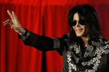 This March 5, 2009 file photo shows Michael Jackson as he announces ten live concerts at the London O2 Arena in south London. Tuesday, June 25, 2019, marks the tenth anniversary of Jackson's death. (AP Photo/Joel Ryan, File)