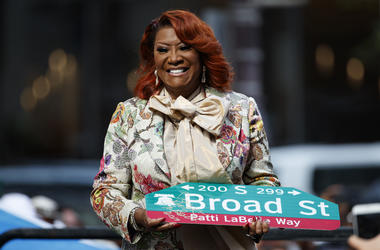 """Singer Patti LaBelle smiles after a ceremony naming a street after her, Tuesday, July 2, 2019, in Philadelphia. A stretch of Broad Street, between Locust and Spruce Streets, will be renamed """"Patti LaBelle Way."""" (AP Photo/Matt Slocum)"""