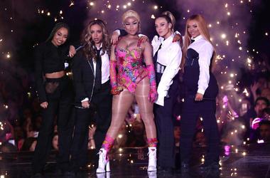 In this Sunday, Nov. 4, 2018 file photo, Nicki Minaj performs on stage during the MTV EMA's 2018 at Bilbao Exhibition Centre in Bilbao, Spain. (Stuart C. Wilson/Pool via AP, File)