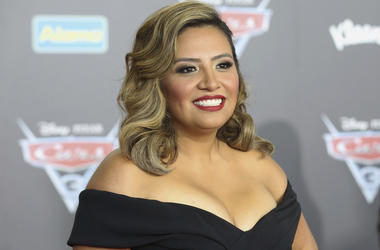 """This June 10, 2017 file photo shows Cristela Alonzo at the LA Premiere of """"Cars 3"""" in Anaheim, California. (Photo by Willy Sanjuan/Invision/AP, File)"""
