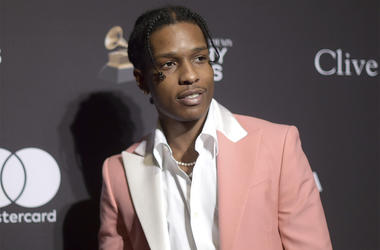 This Feb. 9, 2019 file photo shows A$AP Rocky at Pre-Grammy Gala And Salute To Industry Icons in Beverly Hills, California. (Photo by Richard Shotwell/Invision/AP, File)