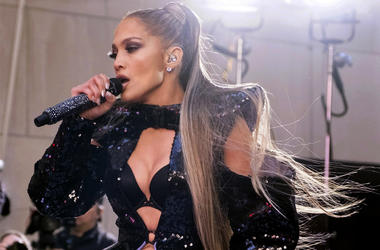 """In this May 6, 2019 file photo, Jennifer Lopez performs on NBC's """"Today"""" show at Rockefeller Plaza in New York. (Photo by Charles Sykes/Invision/AP File)"""
