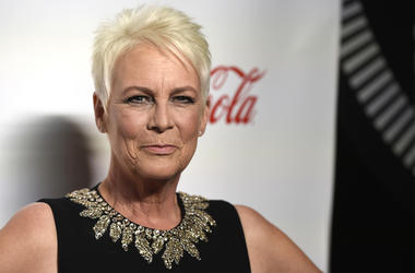 In this April 4, 2019 file photo, Jamie Lee Curtis, recipient of the CinemaCon vanguard award, poses at the Big Screen Achievement Awards at Caesars Palace in Las Vegas. (Photo by Chris Pizzello/Invision/AP, File)
