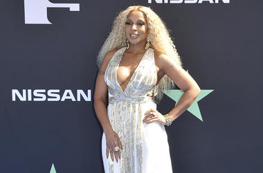 In this June 23, 2019 file photo, Mary J. Blige arrives at the BET Awards at the Microsoft Theater in Los Angeles. (Photo by Richard Shotwell/Invision/AP, File)