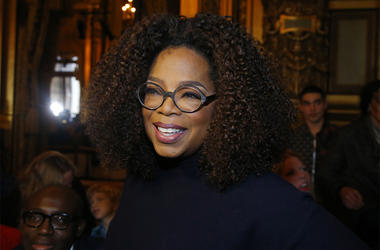 This March 4, 2019 file photo shows Oprah Winfrey at the presentation of Stella McCartney's ready-to-wear Fall-Winter 2019-2020 fashion collection in Paris. (AP Photo/Michel Euler, File)