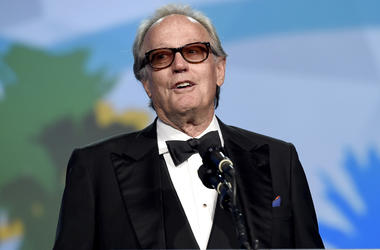 In this Tuesday, Jan. 2, 2018 file photo, Peter Fonda presents the Desert Palm achievement award at the 29th annual Palm Springs International Film Festival, in Palm Springs, California. (Photo by Chris Pizzello/Invision/AP, File)