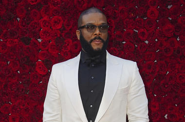 Tyler Perry poses for a photo on the red carpet at the grand opening of Tyler Perry Studios at Tyler Perry Studios on Saturday, Oct. 5, 2019, in Atlanta. (Photo by Elijah Nouvelage/Invision/AP)