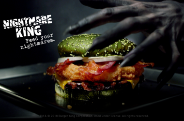 Burger King's new 'Nightmare King' sandwich (Photo credit: Burger King)
