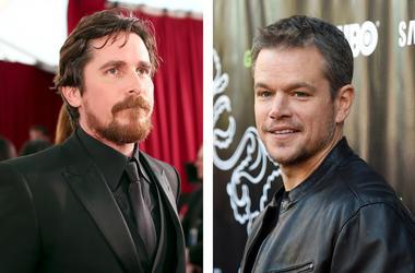 Christian Bale and Matt Damon (Photo credit: Christopher Polk/Angela Weiss/Getty Images)
