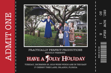 Cindy Simmons 'Mary Poppins' themed Christmas Card (Photo credit: Cindy Simmons)