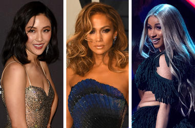 Constance Wu, Jennifer Lopez and Cardi B. (Photo credit: ImageSPACE/Sipa USA)