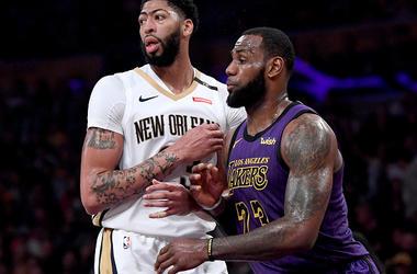 Anthony Davis LeBron James Los Angeles Lakers