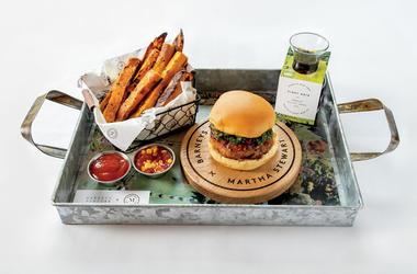Freds' Turkey Meatloaf Burger (Photo credit: Barneys New York)
