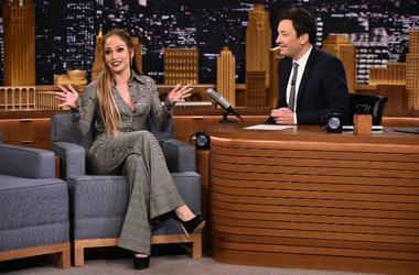 Jennifer Lopez and Jimmy Fallon