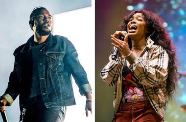 Kendrick Lamar and SZA (Photo credit: Amy Harris/Invision/AP, File)
