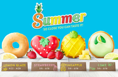 Krispy Kreme Lemon Glaze & Fruit Collection
