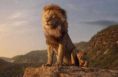 James Earl Jones as Mufasa and JD McCrary as Simba in Disney's 'The Lion King' (Photo credit: Walt Disney Studios)