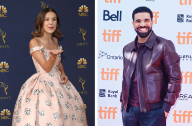 Millie Bobby Brown and Drake (Photo credit: Dan MacMedan, Admedia)
