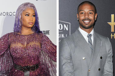 Nicki Minaj and Michael B. Jordan (Photo credit: Stephen Smith//Sthanlee B. Mirador/Sipa USA)