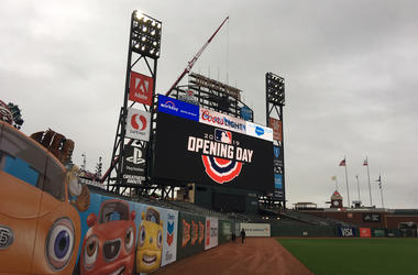 Oracle Park Opening Day 2019 (Photo credit: Tim Ryan/KCBS Radio)