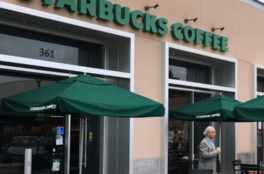 Palo Alto Starbucks (Photo credit: Matt Bigler/KCBS Radio)