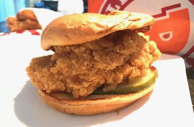 Popeyes Chicken Sandwich (Photo credit: R. Del Rosario/Entercom)