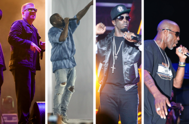 """Run The Jewels, Kanye West, Sean """"Diddy"""" Combs, DMX."""