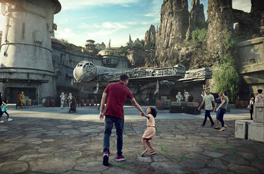 Star Wars: Galaxy's Edge will open May 31, 2019, at Disneyland Park in Anaheim, California, and Aug. 29, 2019, at Disney's Hollywood Studios in Lake Buena Vista, Florida. At 14 acres each, Star Wars: Galaxy's Edge will be Disney's largest single-themed la