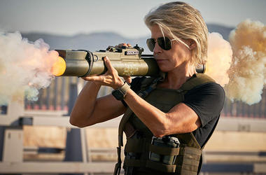 Linda Hamilton in 'Terminator: Dark Fate' (Photo credit: Paramount Pictures)