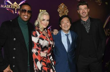Cast of 'The Masked Singer' (Photo credit: Photo credit Jon Kopaloff / Stringer)