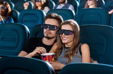Couple at a movie