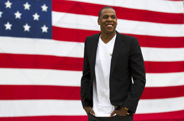 """In this May 14, 2012 file photo, entertainer Jay-Z smiles after a news conference at Philadelphia Museum of Art in Philadelphia.  The rapper says he's disappointed his """"Made in America"""" festival will not be held in Philadelphia after this year. The Philad"""