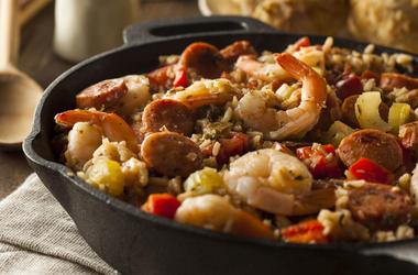 A bowl of jambalaya